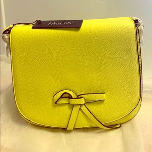 MoDa New York Crossbody Bag Custard Yellow